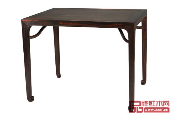 鲁班木艺《四平卷珠足长桌》